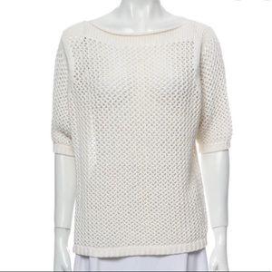 LAUREN MANOOGIAN- Rolled Neck Net Sweater